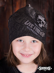 "Winter Childrens Hat ""Live Free or Die"""