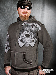 "A Men's Hoodie ""HORDES to WAR"" with the biggin"