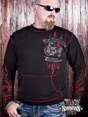 "Sweatshirt Men's "" 100% CHOPPERS"""