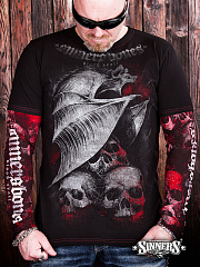 "Man's Long Sleeve Shirt ""Blood Trail"""