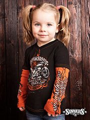 "Children's T-shirt with a long sleeve ""Born to RIDE"""