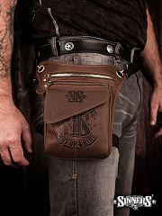 "Leather Biker Bag ""Shut Up & RIDE"""