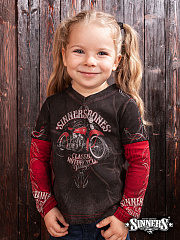 "Children's T-shirt with a long sleeve ""Classic Motorcycle"""