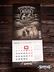 "Calendar for 2020 ""ROUTE 66"""