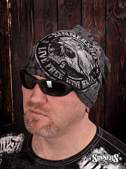 "Black Winter Hat ""Live Free Ride Hard"""