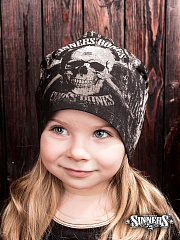 "Black Winter Children's Hat ""CROSS BONES"""