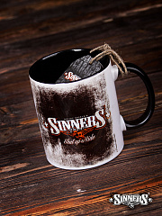 "Ceramic Mug SINNER's BONES ""Shut Up & RIDE"""