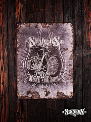 "Iron Nameplate ""Two Wheels Move the Soul"""