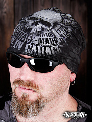 "Black Winter Hat ""MADE in GARAGE"""