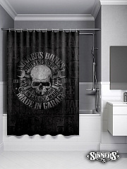 "Shower Curtain ""MADE in GARAGE"""